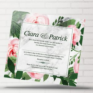 Floral Green & Pink Invite