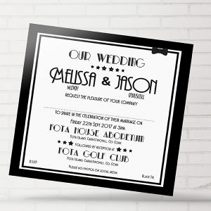 Black Deco Invite