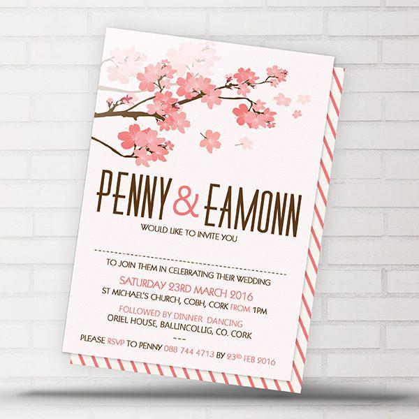 Cherry Blossom Invite