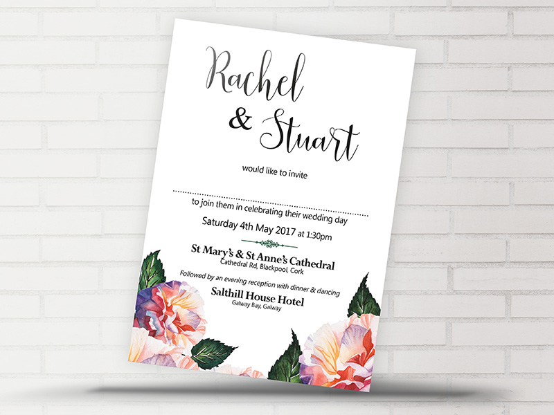 Rachel Floral Invite | Now and Forever