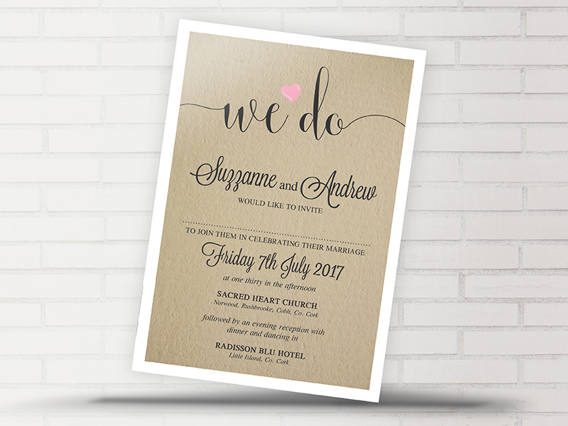 Wedding Invitations Uk Free Samples: Rustic We Do Wedding Invitation