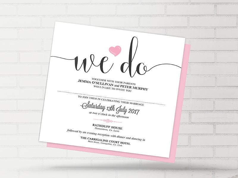 We Do Heart Invite