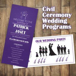 Wedding Day Programs