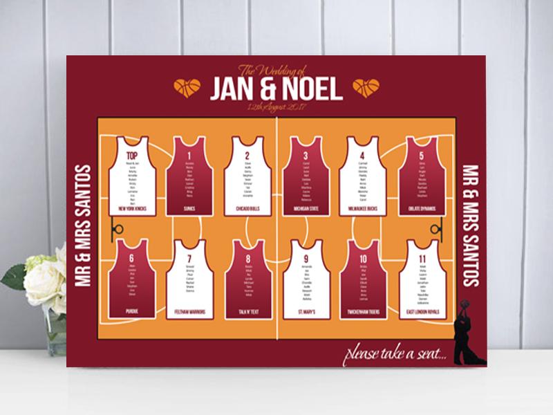 Basketball Style Table Plan
