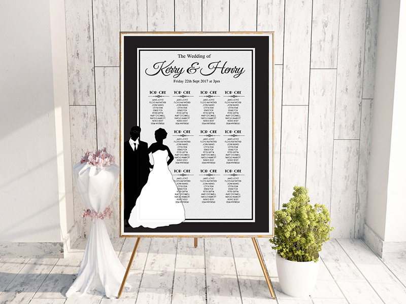 Black & White Bridal Silhouette