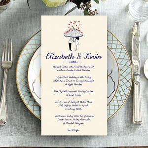 Buckley Umbrella Wedding Menu
