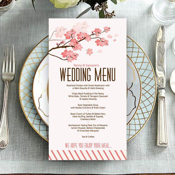 Cherry Blossom Wedding Menu