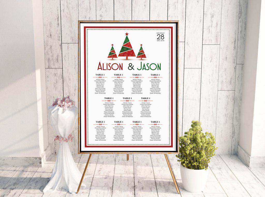 Christmas Trees Table Plan
