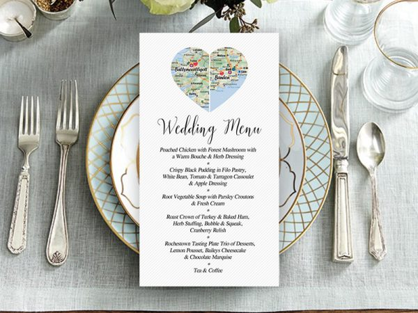 CountyHeart Wedding Menu