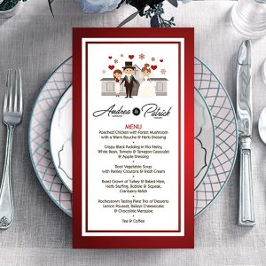 Dowling Family Red Wedding Menu