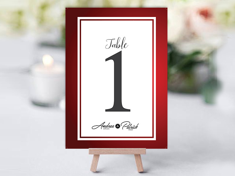Dowling Family Red Table Name