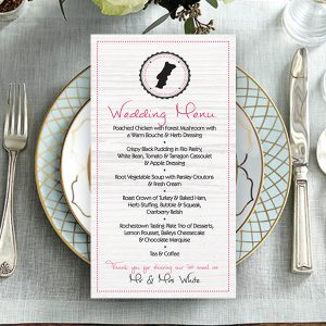 Dunne PinkPassport Wedding Menu