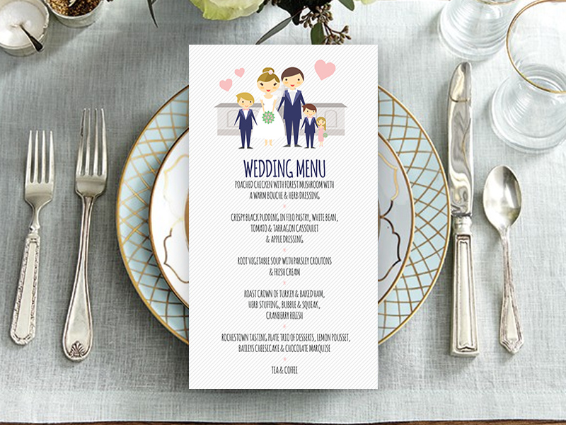 Family Style Gate Wedding Menu