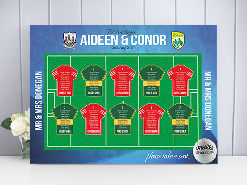 GAA Sports Table Plan