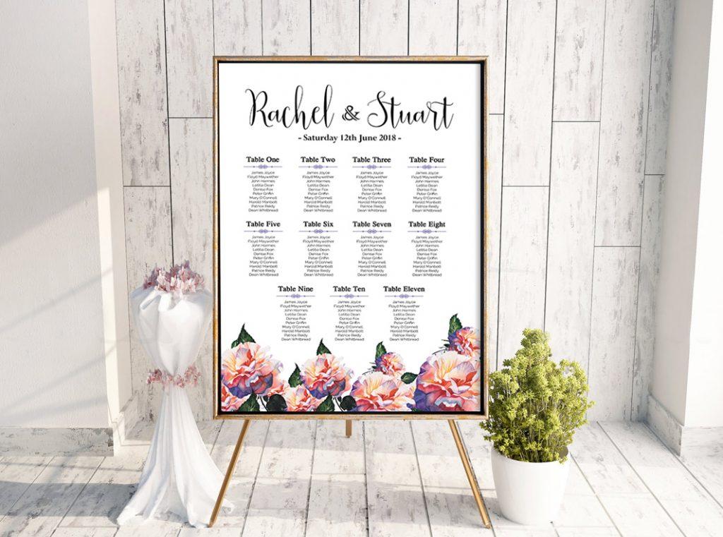 Rachel Floral Table Plan