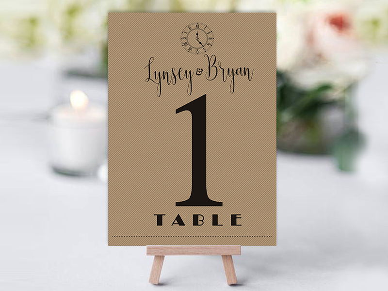 Shine Rustic Table Name Cards