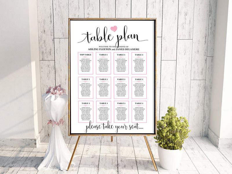 We Do Heart Table Plan