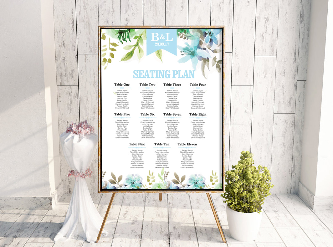 WaterFloral Table Plan