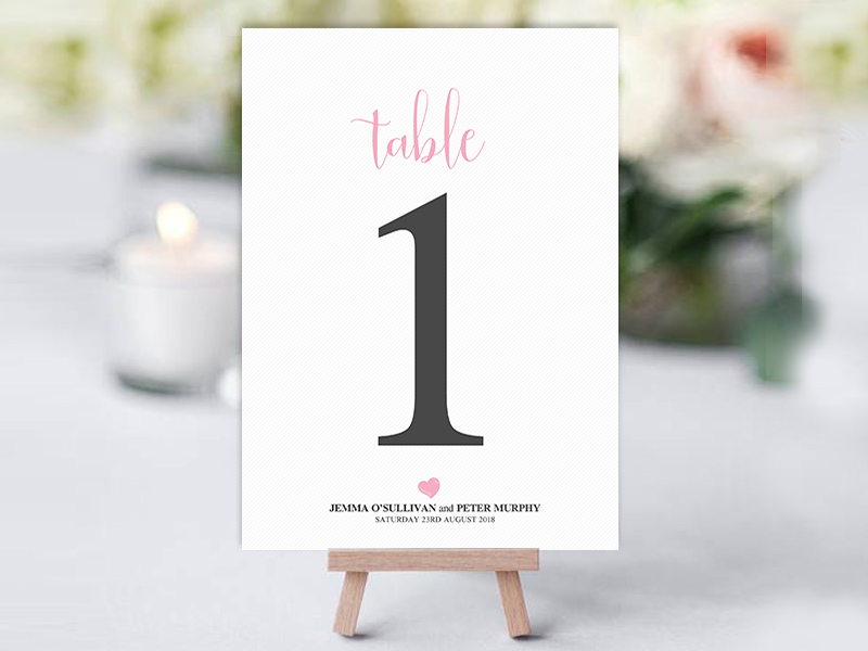 We Do Heart Table Name Cards