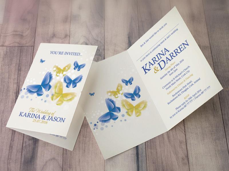 Karina Butterfly Folding Invite