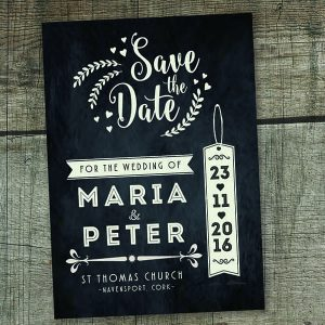 Blackboard Tag Style Save The Date