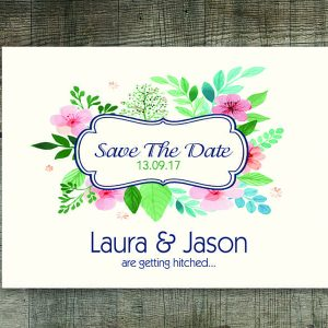Dolan Cream Floral Save The Date