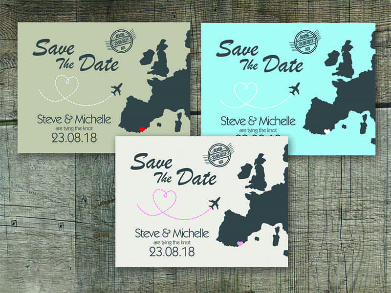 Travel Hop Save The Date