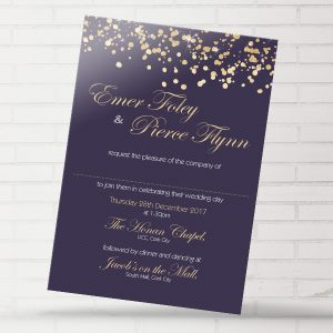 Foley Glitter Gold Invite