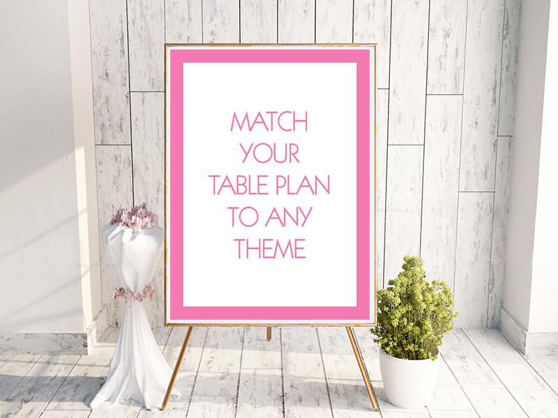 Generic Wedding Table Plan