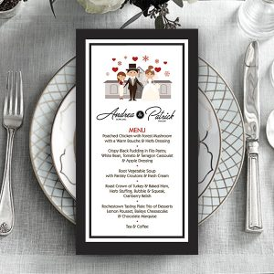 Killen TriFold Wedding Menu