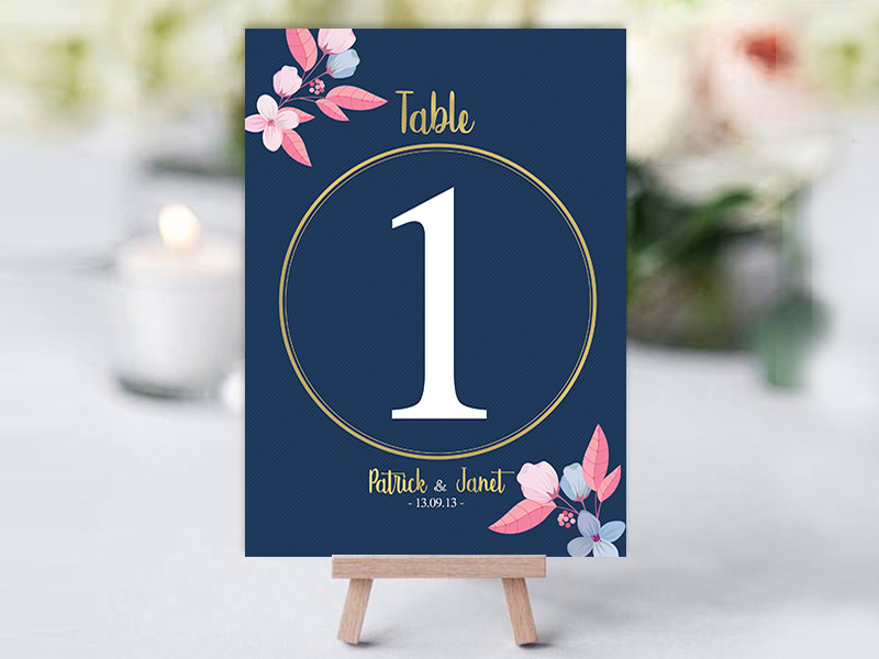 Louisiana Navy Pink Table Names