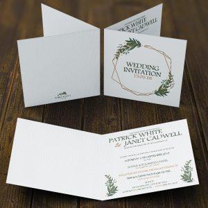 Daisy Spring Square Wedding Folding Invite