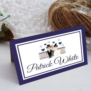 Wedding Guest Place Setting Navy