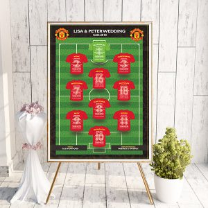 Soccer Wedding Table Plan - Man Utd